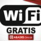 Banner promocional del servicio de wifi gratis