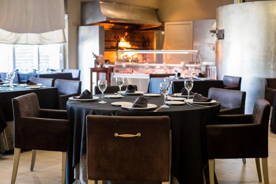 Mesa del restaurante Abades Mérida