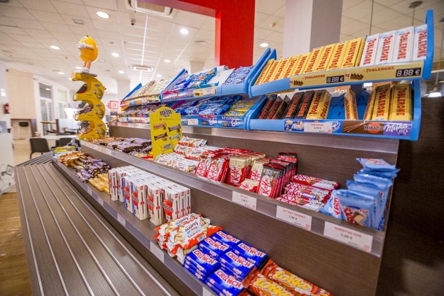 Chocolatinas en zona Self Service