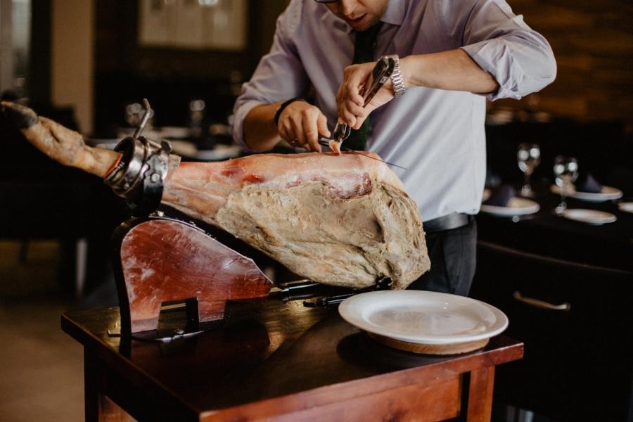 Cortador de jamón para restaurante y eventos