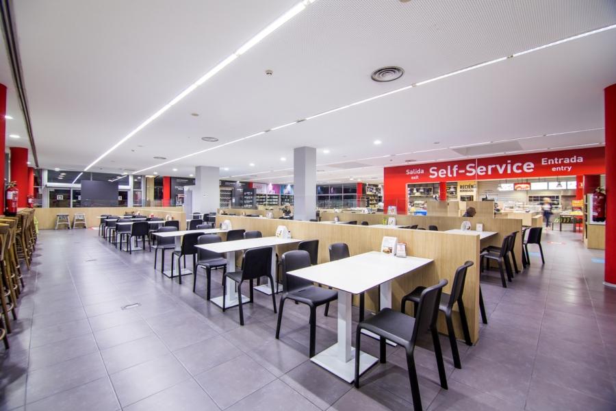 Zona de descanso para comer en Autovía A2, Soria