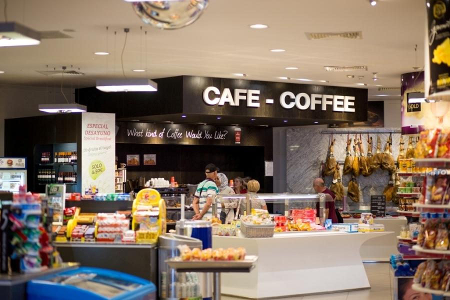 Vista de la zona de café