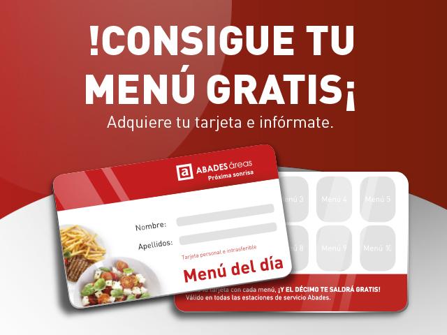 Banner promocional del Menú del día Gratis