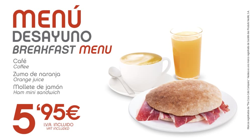 abades areas promocion especial menu desayuno