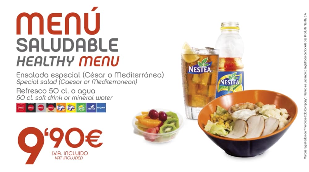 abades areas promocion especial menu saludable